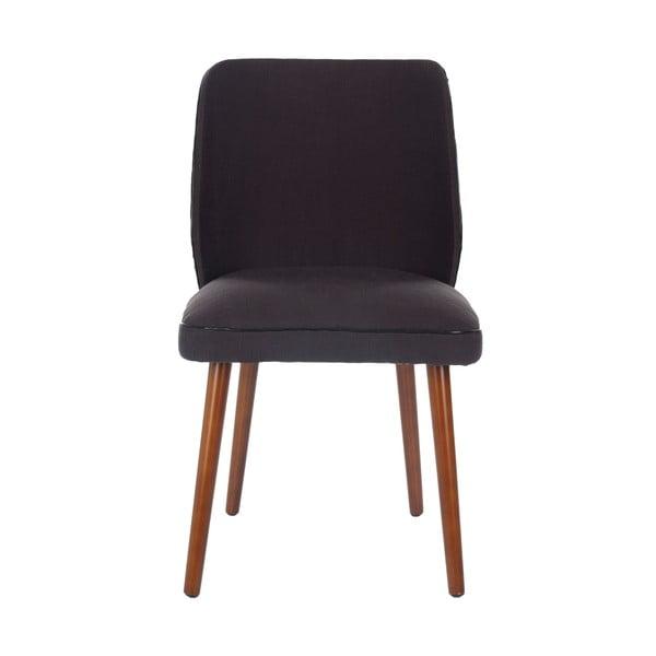 Zestaw 2 krzeseł Ethel, czarnoszare