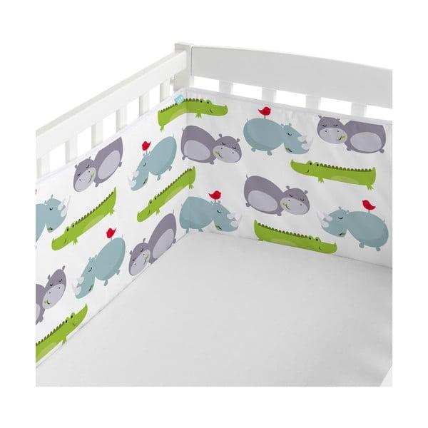 Bawełniany ochraniacz do łóżeczka Mr. Fox Hippo, 210x40 cm