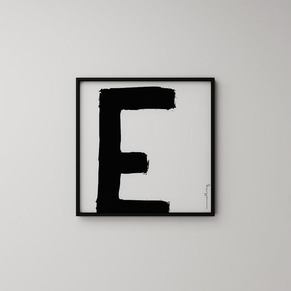 Plakat Litera E, 50x50 cm