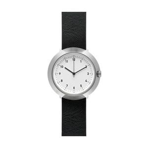 Zegarek White Fuji Black Leather, 43 mm