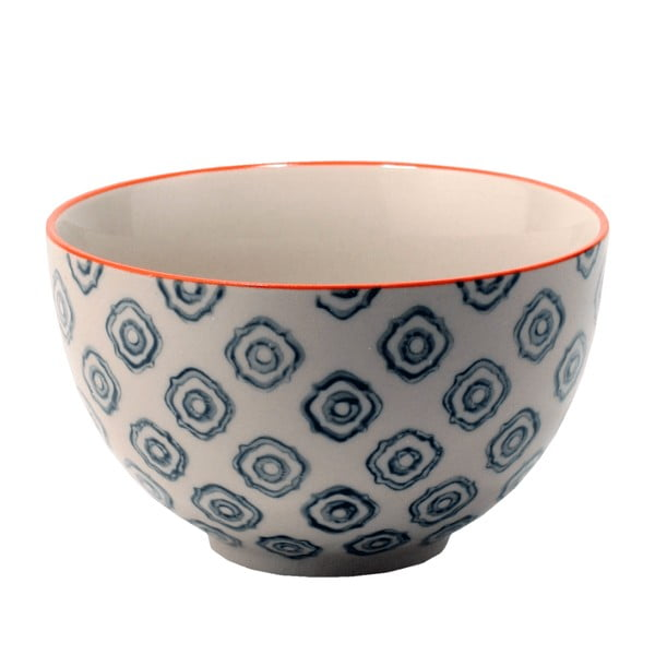 Ceramiczna miska Stan, krawędź pomarańczowa