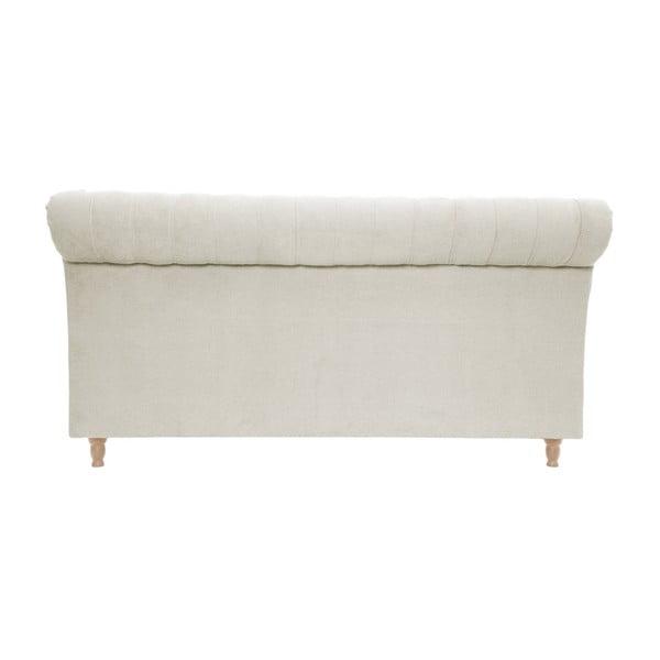 Kremowe łóżko z naturalnymi nóżkami Vivonita Allon, 160x200 cm