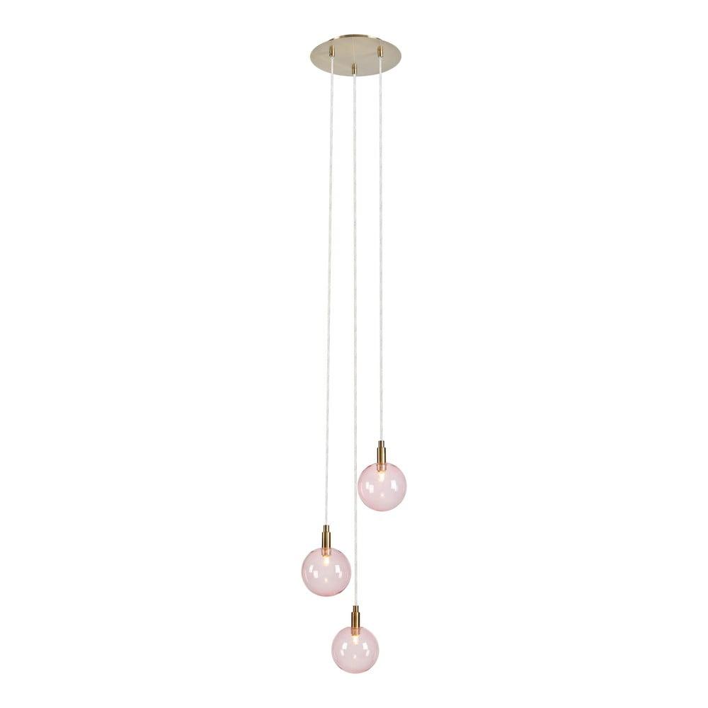 Różowa lampa wisząca Markslöjd Uno Pendant 3L