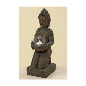 Szary świecznik Boltze Budhha