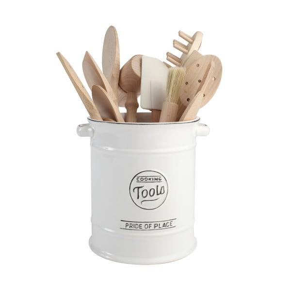 Biały pojemnik ceramiczny na przybory kuchenne T&G Woodware Pride of Place