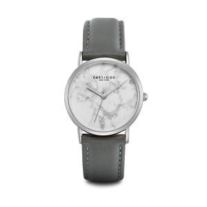 Zegarek damski z szarym skórzanym paskiem i cyferblatem w kolorze srebra Eastside Rosevelt