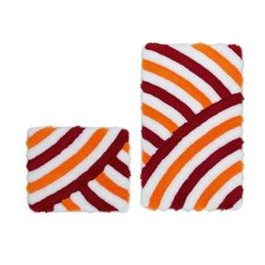 Zestaw 2 dywaników łazienkowych Lobby Red