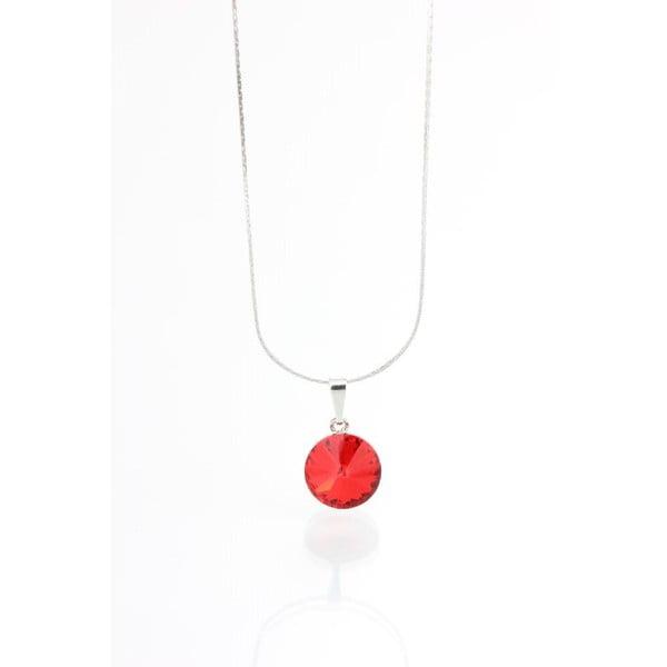 Czerwony naszyjnik z kryształami Swarovskiego Yasmine Longie