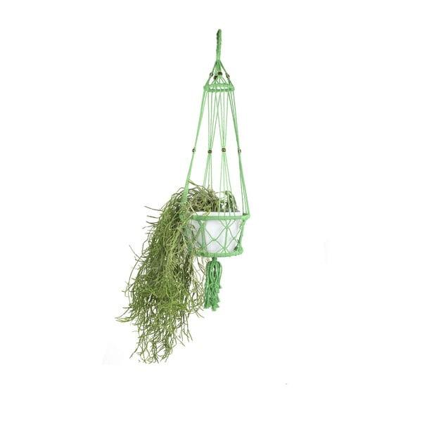 Wisząca osłonka na doniczkę Macrame Verde, 25 cm