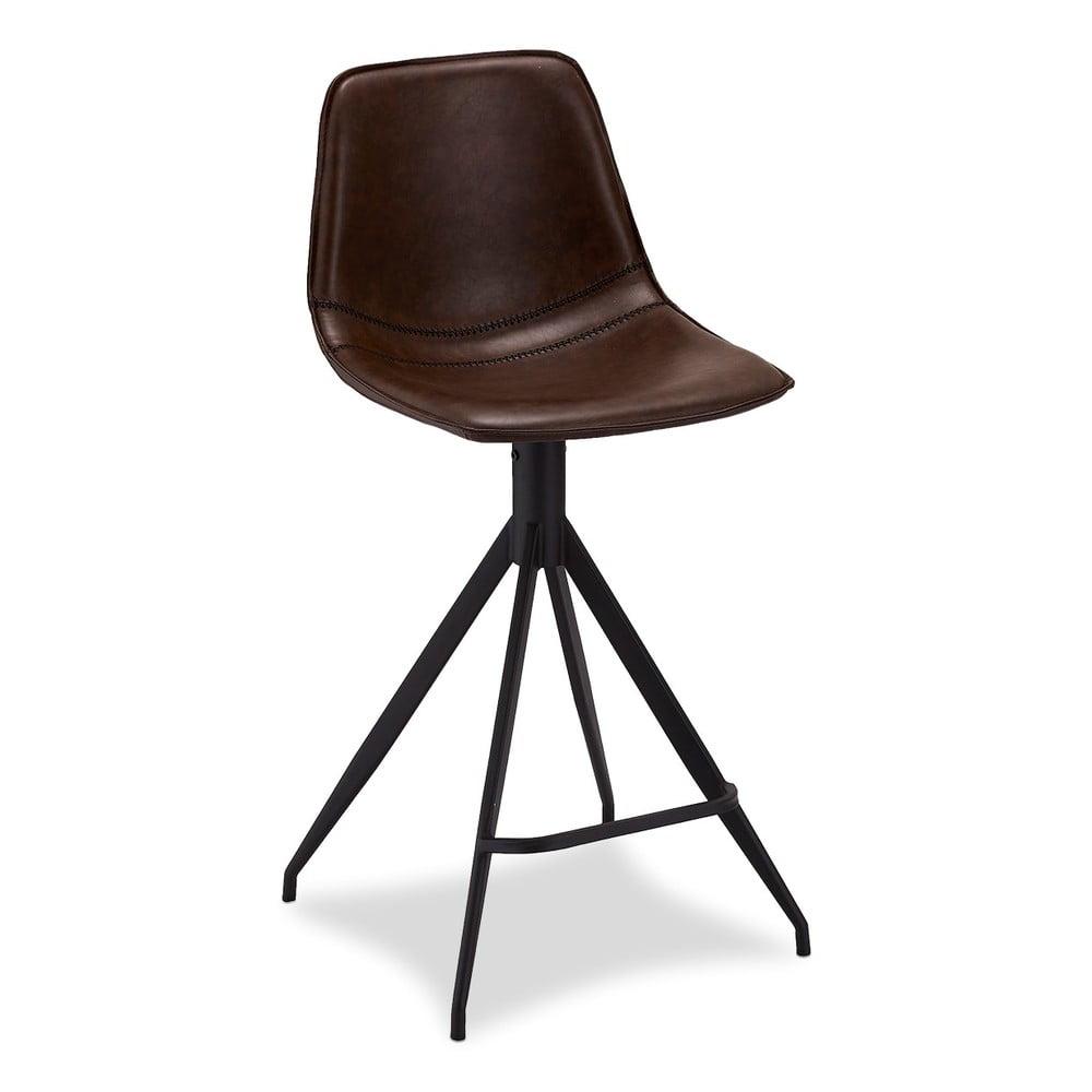 Zestaw 2 ciemnobrązowych krzeseł barowych Furnhouse Isabel