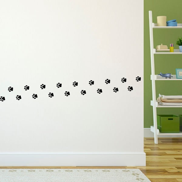 Zestaw 20 naklejek Ambiance Cat Footprints