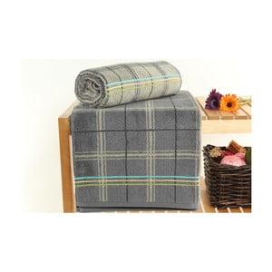 Zestaw 2 szarych ręczników kąpielowych Gordon Stone, 70x140 cm