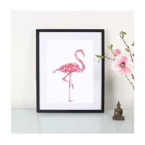 Plakat Crayon Flamingo, A3