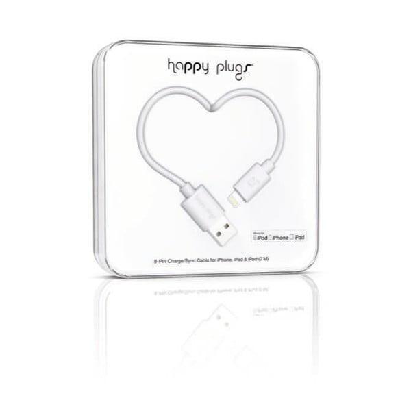 Kabel do ładowania i transmisji danych Happy Plugs 2 m, biały