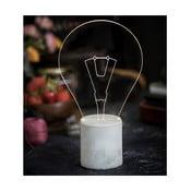 Lampka Bulb, szara podstawa