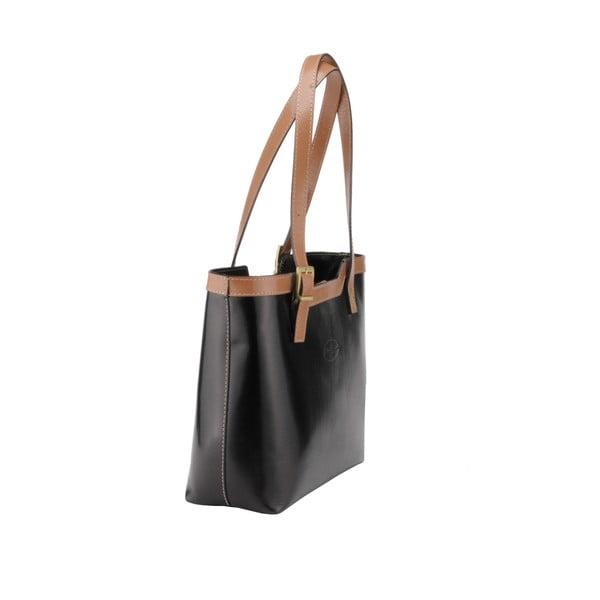 Skórzana torebka Emilio Masi Zosma, beżowo-czarna