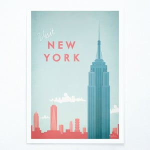 Plakat Travelposter New York, A2