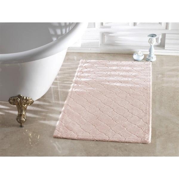 Różowy dywanik łazienkowy Arven Powder, 40x60 cm