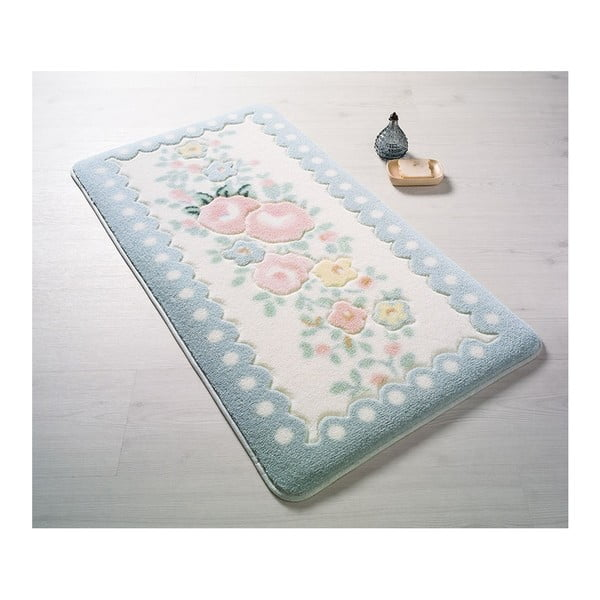 Niebieski dywanik łazienkowy Confetti Bathmats Serenity, 80x140 cm