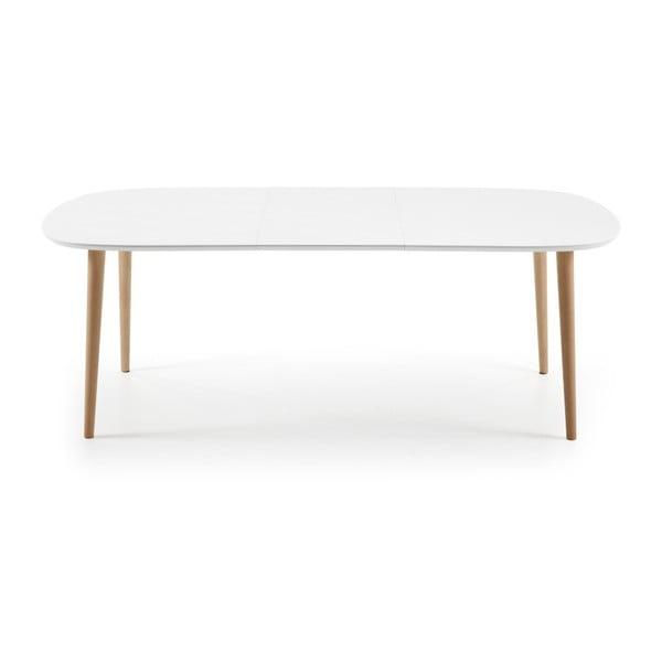 Biały stół rozkładany La Forma Oakland, 160-260 cm