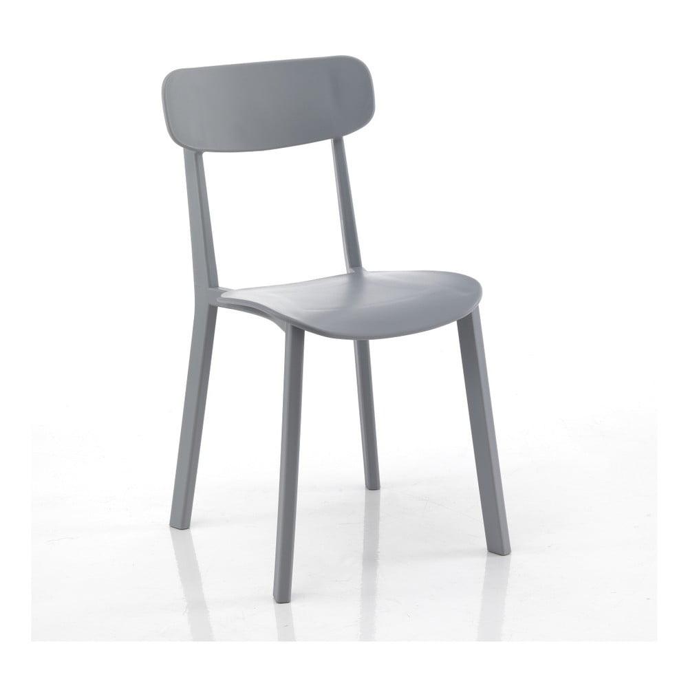Zestaw 4 szarych krzeseł Tomasucci Mara