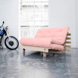Sofa wielofunkcyjna Karup Roots Raw/Pink Peonie