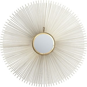 Lustro ścienne Kare Design Sunbeam, Ø 90 cm