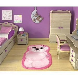 Dywan dziecięcy Pretty Bear Pink, 80x127 cm