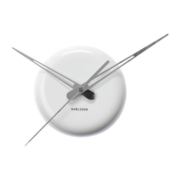 Biały zegar scienny Present Time Ceramic Dot
