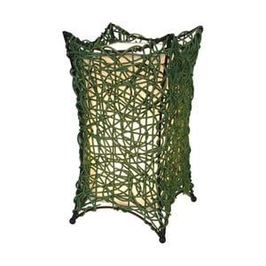 Zielona lampa stołowa Naeve Korbchen