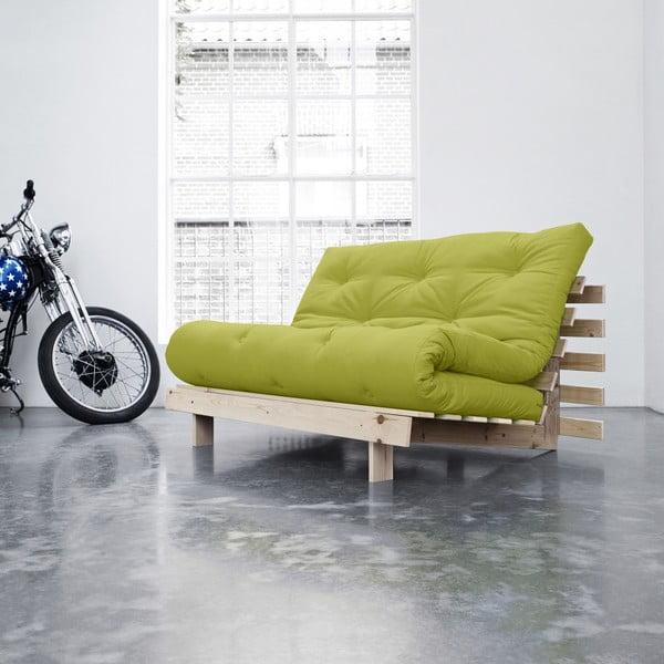 Sofa rozkładana Karup Roots Raw/Pistacie