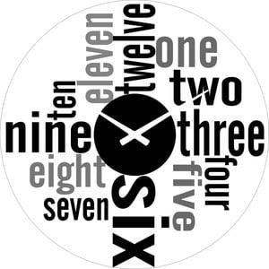 Szklany zegar Numbers, 38 cm