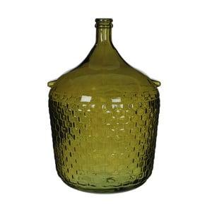 Zielony świecznik szklany Mica Diego, 56x40cm