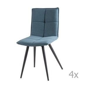 Zestaw 4 jasnoniebieskich krzeseł sømcasa Zoe