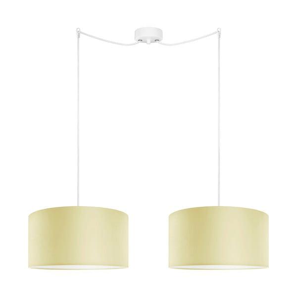 Kremowa podwójna lampa wisząca Bulb Attack Cero Tres, ⌀ 36 cm