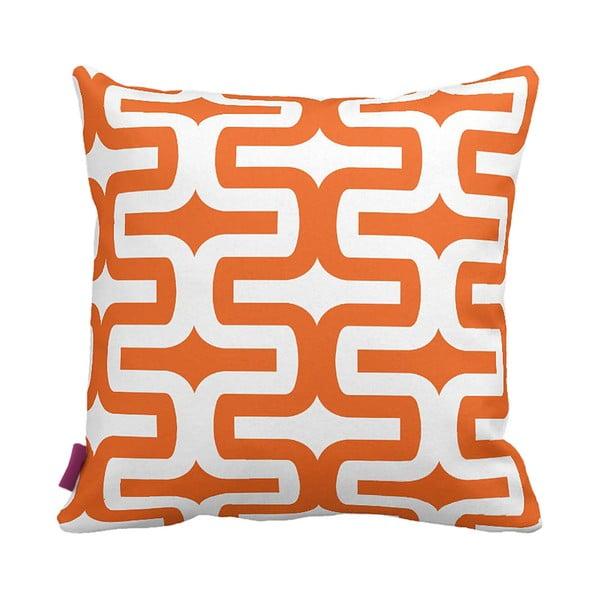 Pomarańczowo-biała   poduszka Retro Orange, 43x43cm