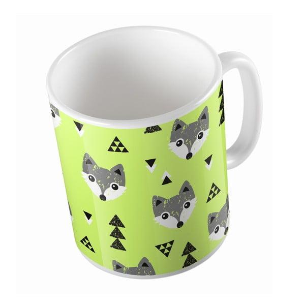 Kubek ceramiczny Lime Foxes, 330 ml