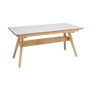 Biały stół z nogami z drewna dębowego sømcasa Abbie, 150 x 90 cm
