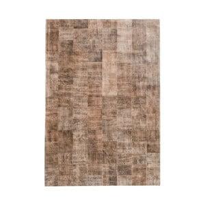 Jasnobrązowy dywan z prawdziwej skóry Fuhrhome Ankara, 120x180cm