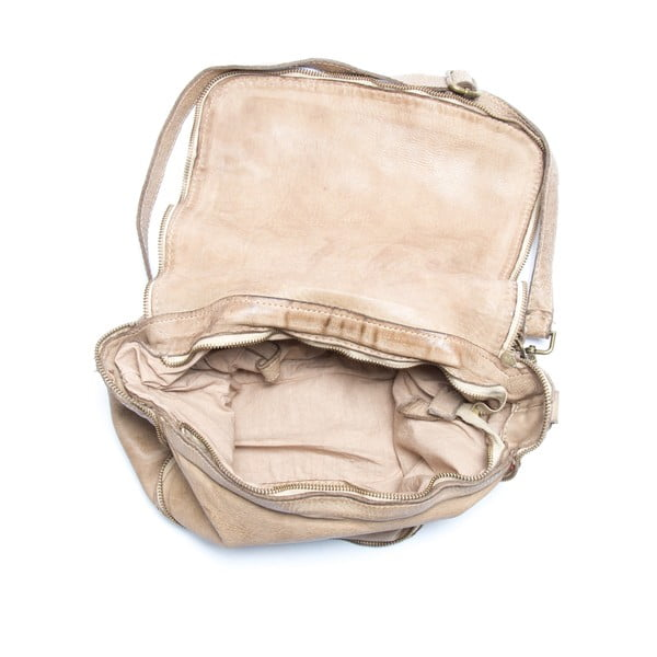 Skórzana torebka Mangotti 0009, kamień