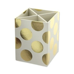 Organizer na art. papiernicze Go Stationery Gold Polka Cream