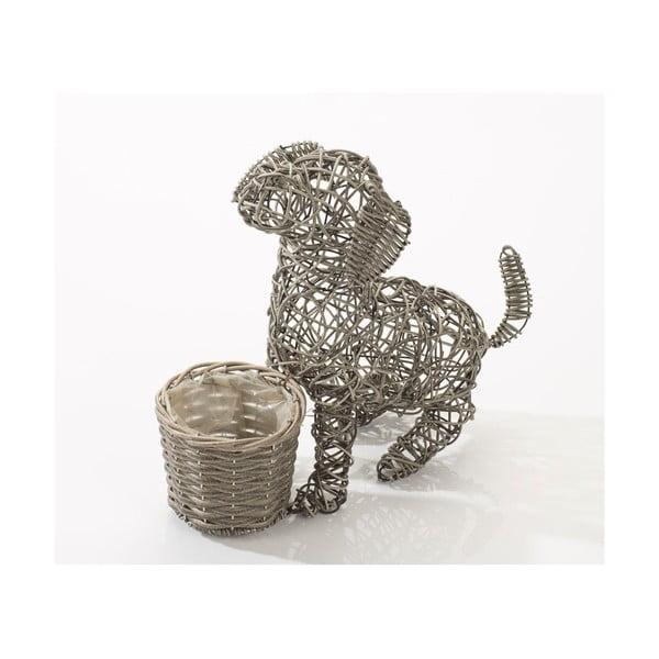 Dekoracyjna rattanowa doniczka Puppy