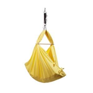 Żółta kołyska/hamak z bawełny mocowana do sufitu Hojdavak Baby XL (0-9 miesięcy)