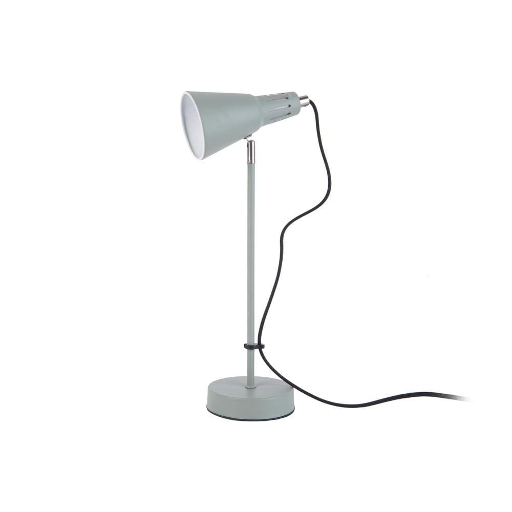 Szarozielona lampa stołowa Leitmotiv Mini Cone,ø16cm