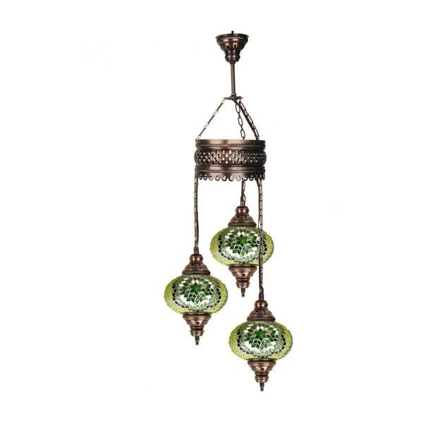 Szklana lampa z 3 kloszami Homemania Fishing, ⌀ 17 cm