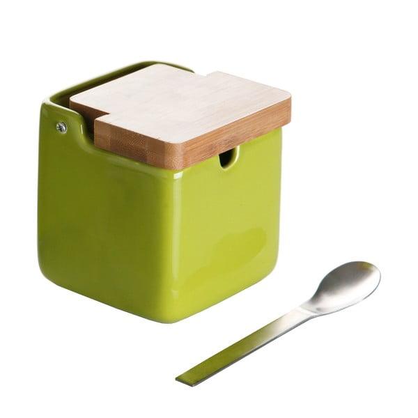 Zielona cukiernica z łyżeczką Versa Spoon Wood