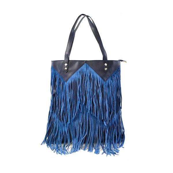 Skórzana torebka Michelle, niebieska