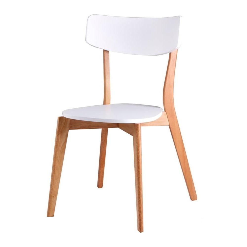 Zestaw 4 białych krzeseł sømcasa Ava