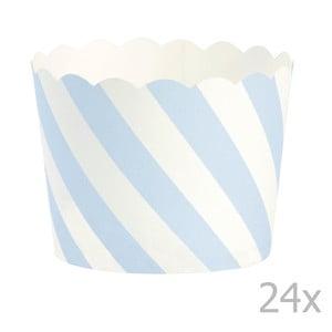 Zestaw 24 papilotek na muffiny Miss Étoile Blue Diagonal