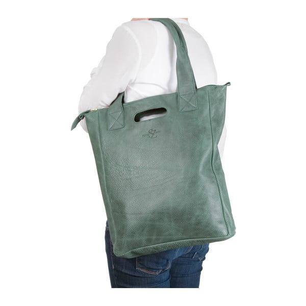 Skórzana torebka Marilla Cupboard Green